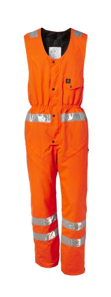 Sleeveless boiler suit