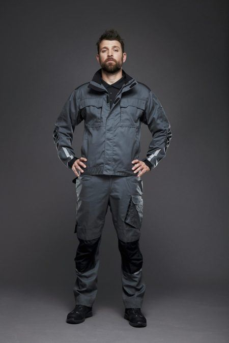 EVOBASE suit, for industry, Trouser and jacket with refleks